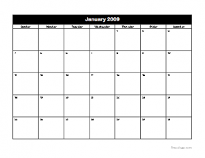 Colorful Printable Monthly Calendar - Freeology