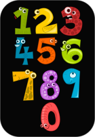 Animal Shaped Number black background