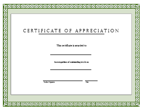 Apple gram appreciation award freeology for Certificate of appreciation template publisher