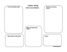Author Study Worksheet