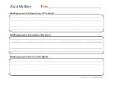 Beginning, Middle, End Story Summary Sheet - Freeology