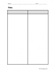 Blank 2 column notes form