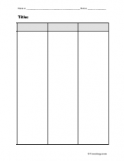 Blank 3 column notes form