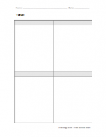 Blank 4 Box Notes Form