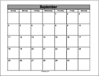 Printable Calendar Maker - Freeology