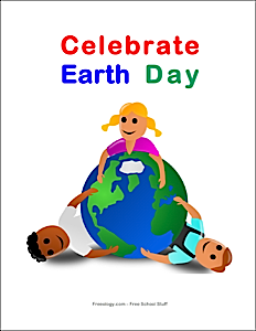 Celebrate Earth Day Classroom Sign