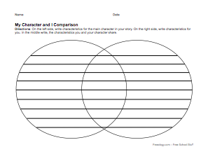 Character study organizer freeology for Compare and contrast graphic organizer template