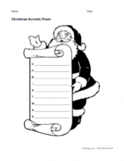 Christmas Acrostic Poem