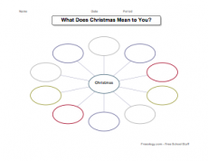 Christmas Graphic Organizer