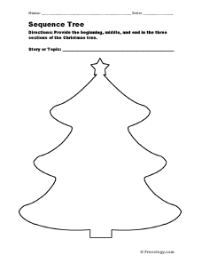 Christmas tree sequencing notes form