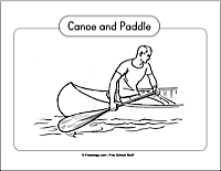 Canoe and Paddle