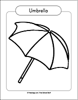 u is for umbrella coloring page  ... coloring p...