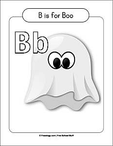 Ghost Boo Coloring Page