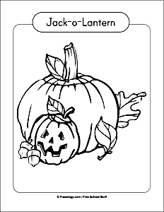 happy jack o lantern coloring pages - six scary halloween coloring pages freeology