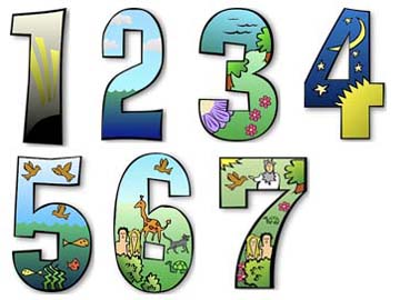 Gods 7 Days of Creation http://freeology.com/numbers/creation-days-numbered-illustrations/