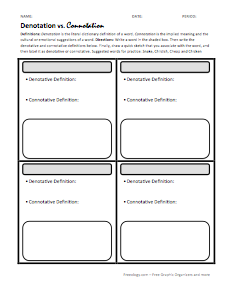 further Free Simile And Metaphor Worksheets additionally Connotation ...
