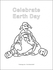 Celebrate Earth Day Coloring Page