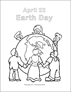 It's Earth Day Coloring Page
