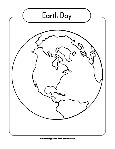 Earth Day Globe Coloring Page Freeology