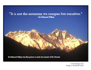 Mt Everest Quote Poster