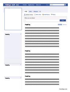 Faux Facebook Profile Worksheet