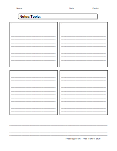 note taking organizer - freeology, Powerpoint templates