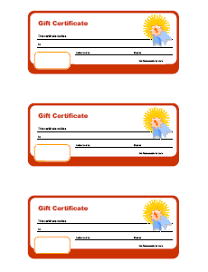 Classroom Gift Certificate