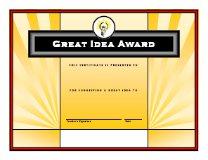 Great Idea Award