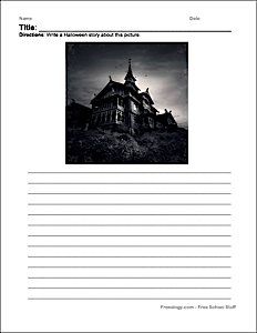 Halloween Writing Page