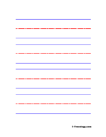 Blank Vertical Handwriting Sheet