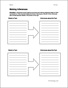 Making Inferences Chart ...  Printable Seating Charts