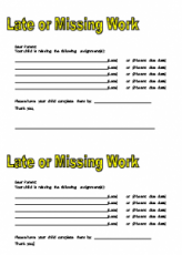 late missing work form