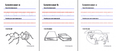 Lowercase Letters Coloring Worksheets