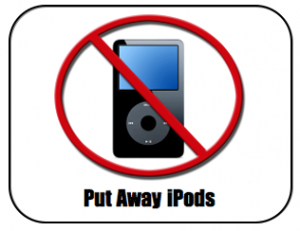 no ipods classroom sign