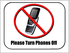 no phones classroom sign