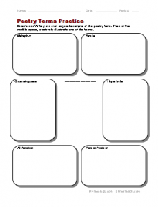 Printables Analyzing A Poem Worksheet new blog 1 poetry worksheets worksheets
