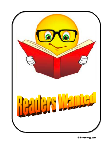 Readers Wanted Sign