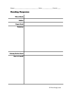 Reading Response Form - Freeology