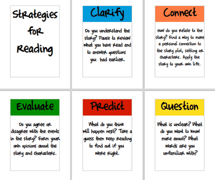 Printables Reading Strategies Worksheets reading freeology strategies posters