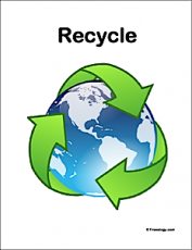 Recycling Symbol Classroom Sign