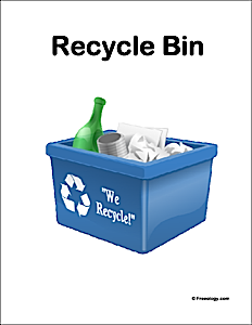 Recycle Bin Classroom Sign