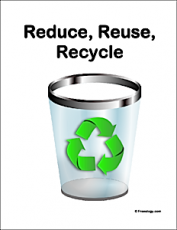 Reduce Reuse Recycle Classroom Sign
