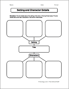 Setting and Character Development Worksheet - Freeology