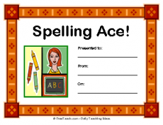 Spelling Ace Award