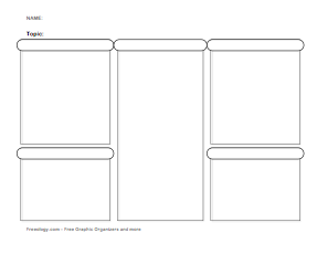 comparison graphic organizer template - study template freeology