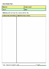 substitute teacher lesson plan form