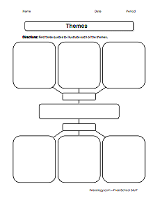 Worksheets Worksheet On Theme theme worksheet freeology finding evidence of themes
