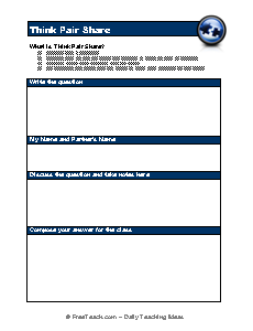 Printables Think Pair Share Worksheet think pair share freeology share