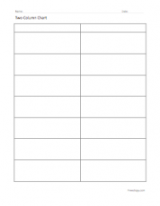 Printables Blank Vocabulary Worksheet graphic organizers freeology two column chart