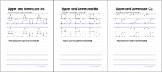 Upper and Lowercase Letters Worksheets